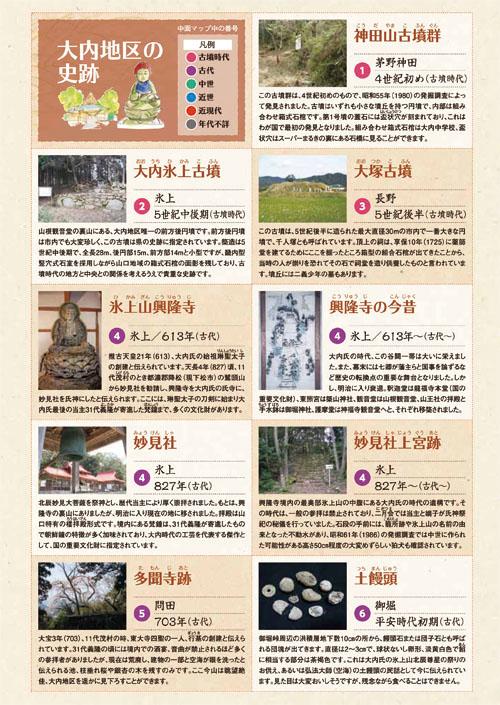 大内地区の史跡(1〜6)