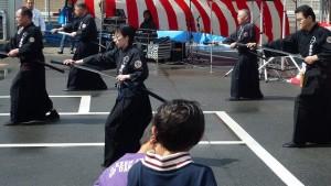 古武道の披露